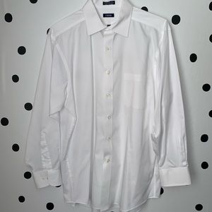🔥30%OFF🔥EUC IZOD white button down shirt 16 1/2